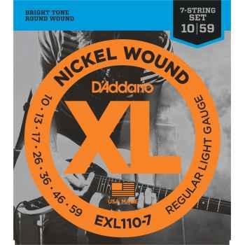 D´addario EXL1107 - XL Regular 7-String [10-56] Juego de Cuerdas para Guitarra Eléctrica